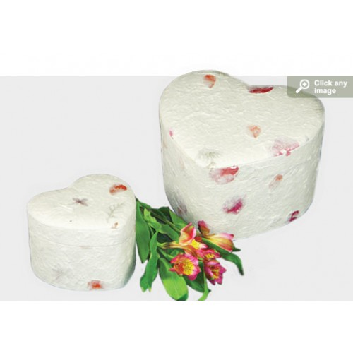 Floral Unity Heart Earthurn (Adult) - Eco Friendly Urn